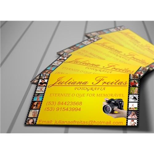 Exemplo de Logo e Cartao de Visita do designer Amauri Rufino para Juliana Fotógrafa