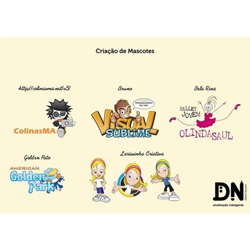 Exemplo de Mascote do designer Dariel Novack para Mascote Diversos