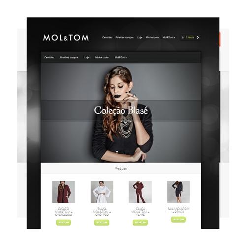 Exemplo de Layout e-Commerce do designer fc-ca para Site Mol&Tom