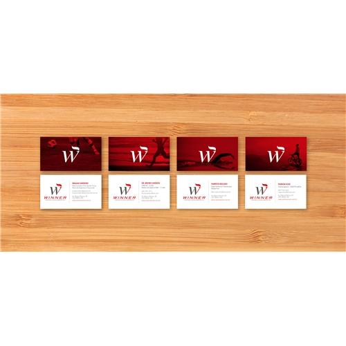Exemplo de Papelaria (6 itens) do designer victorvteles para Cartao de Visita - Winner Centro Clínico