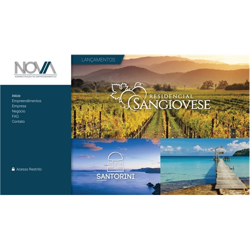 Exemplo de Layout Web-Design do designer victorvteles para Home Page - NOVA Administraçao de Empreendimentos