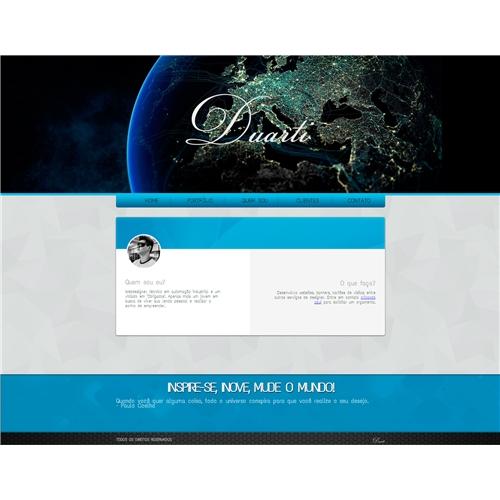 Exemplo de Layout Web-Design do designer lucasduartesouza para Site pessoal - Lucas Duarte