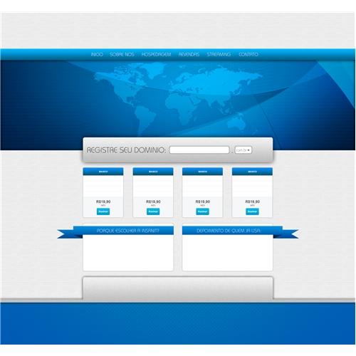 Exemplo de Layout Web-Design do designer lucasduartesouza para Layout empresarial - Insanit Host