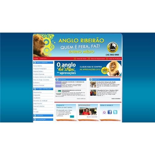 Exemplo de Layout Web-Design do designer Nascimento(nasci) para angloriberao
