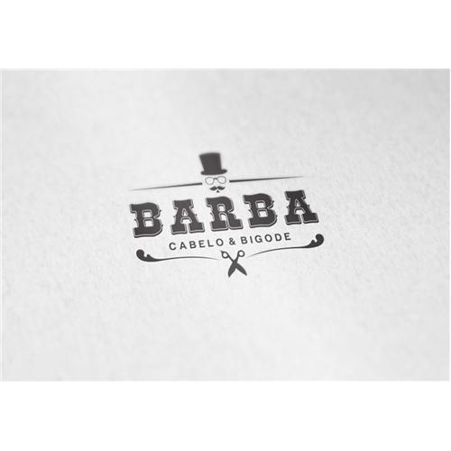 Exemplo de Logo do designer Artes Aquino para Barba Cabelo e Bigode