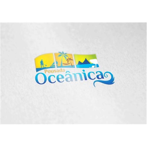 Exemplo de Logo do designer Artes Aquino para Pousada Oceânica