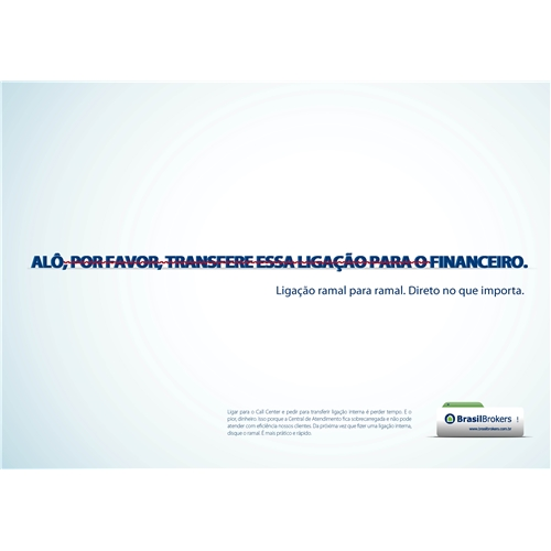 Exemplo de Anuncio do designer Bezerra para Brasil brokers