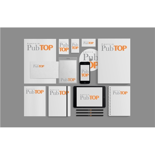 Exemplo de Logo e Papelaria (6 itens) do designer mkasttro para Agencia Pub TOP