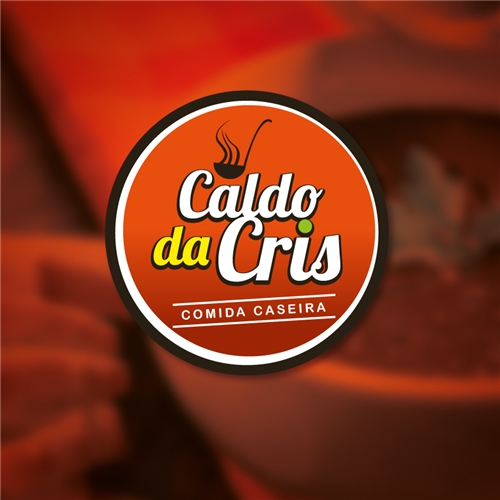 Exemplo de Logo do designer Luzmidia para Caldo da Cris