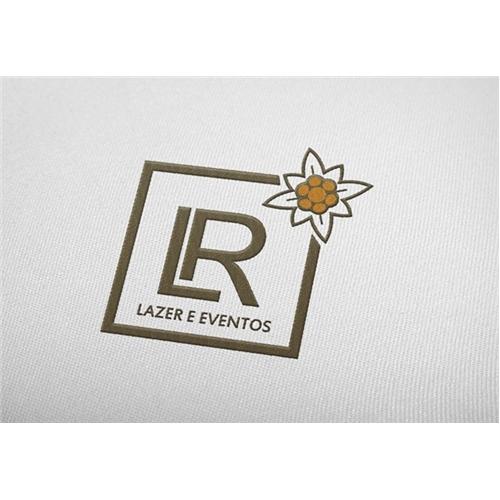 Exemplo de Logo do designer Done para LR Lazer e Eventos