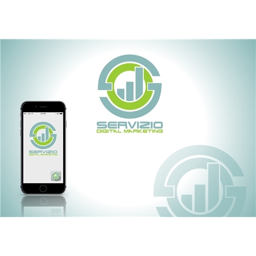 Exemplo de Logo do designer Tej para SERVIZIO