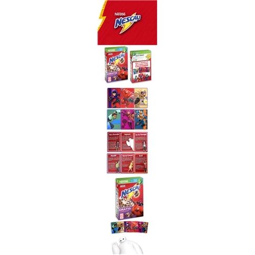 Exemplo de Embalagem (unidade) do designer marlaobrando para Nescau Big Hero 6