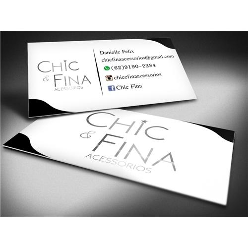 Exemplo de Logo e Cartao de Visita do designer carlos777alberto para Chic & Fina Acessórios