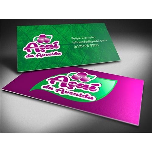 Exemplo de Logo e Cartao de Visita do designer carlos777alberto para Açaí da Avenida