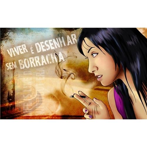 Exemplo de Ilustraçao ou Caricatura do designer MX para Moça