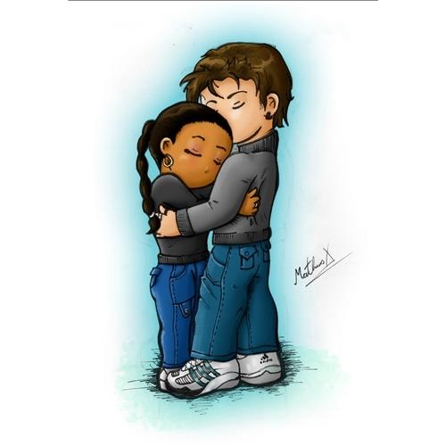 Exemplo de Ilustraçao ou Caricatura do designer MX para Casal