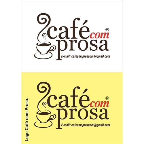 Exemplo de Logo do designer JDesignGrafico para Café com Prosa