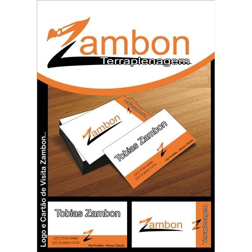 Exemplo de Logo e Cartao de Visita do designer JDesignGrafico para Zambom Terraplanagem
