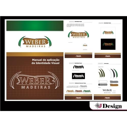 Exemplo de Logo do designer JDesignGrafico para Weber Madeira