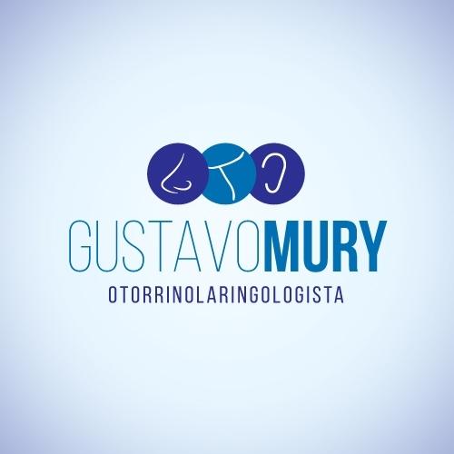Exemplo de Logo do designer Cazon Comunicação para Gustavo Mury