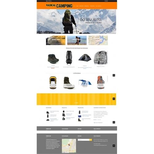 Exemplo de Layout Web-Design do designer H.Leao para Radical Camping