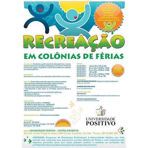 Exemplo de Folheto ou Cartaz (sem dobra) do designer marinadgrj para Cartaz para Palestra sobre Recreação