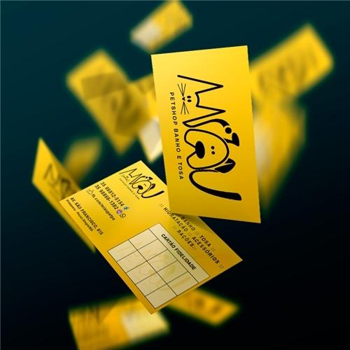 Exemplo de Logo e Cartao de Visita do designer Juliana de Paula para Logo e Cartão de Visita