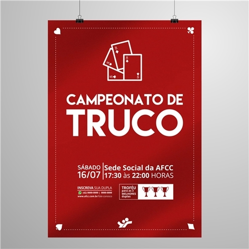 Exemplo de Folheto ou Cartaz (sem dobra) do designer janessa.oliveira para Cartaz Campeonato de Truco