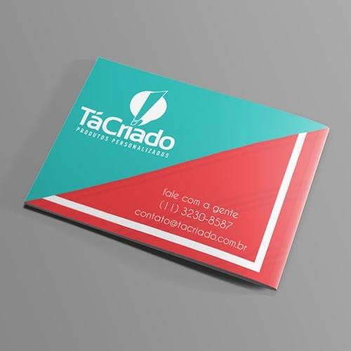 Exemplo de Apres. Comercial (com dobra) do designer rudynhu para Tá Criado! Produtos Personalizados