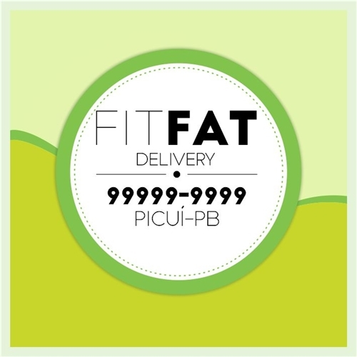 Exemplo de Logo do designer Marlon Emmanuel para FitFat Delivery