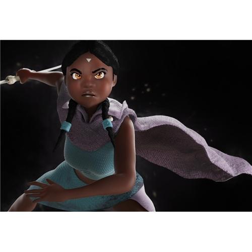 Exemplo de Personagem 3D do designer marlaobrando para Guerreira Afro