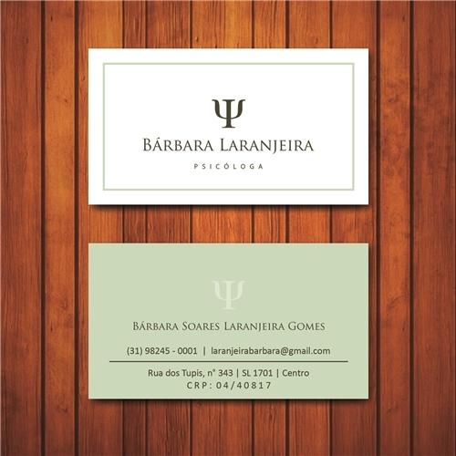 Exemplo de Logo e Cartao de Visita do designer joseesoares para Cartão de Visitas (Bárbara Laranjeira)