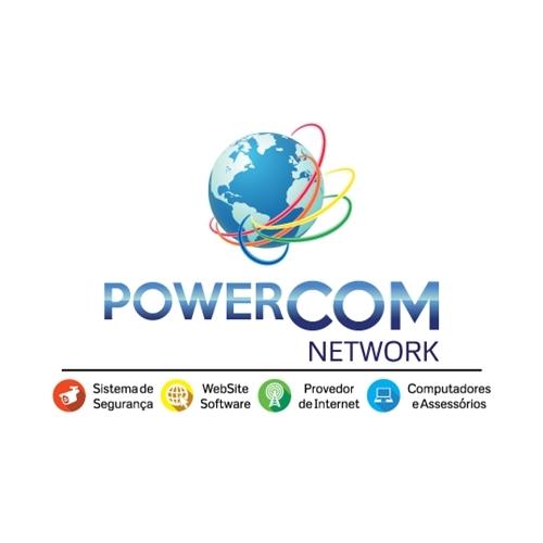 Exemplo de Logo do designer Kitty1980 para PowerCom Networks