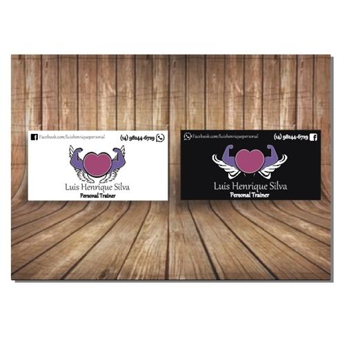 Exemplo de Logo do designer fortalezahelio para cartão personal