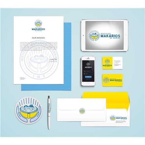 Exemplo de Logo e Papelaria (6 itens) do designer Jbass Designer para Logo Makarios