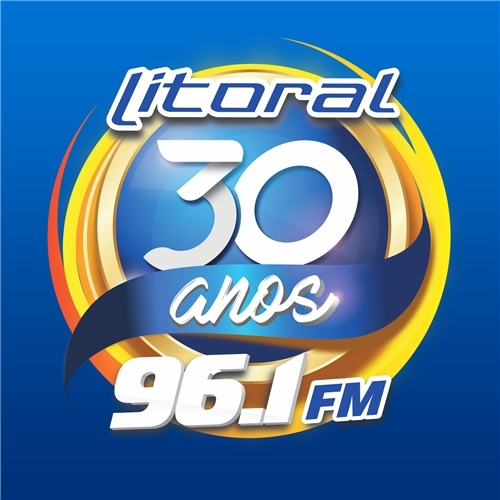 Exemplo de Logo do designer @merctimizer para LITORAL FM 96,1 30 ANOS