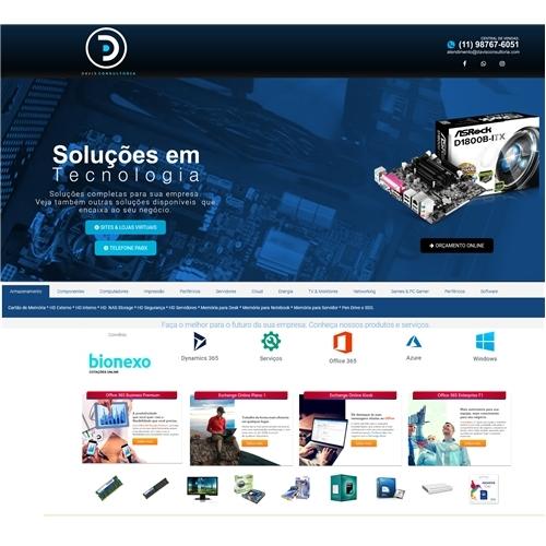 Exemplo de Website do designer Davis_Alves para Davis Consultoria.com