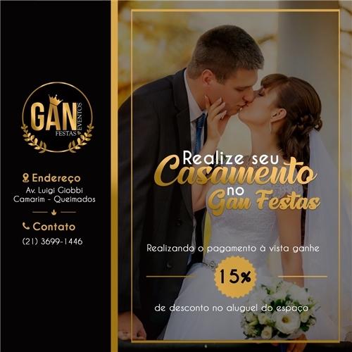 Exemplo de Post do designer crismelly para Arte Salão Gan Festas