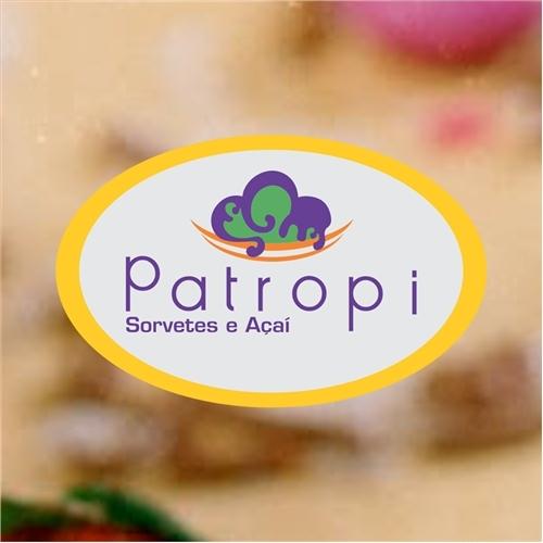 Exemplo de Logo do designer Art Foccus para Sorvetes Patropi