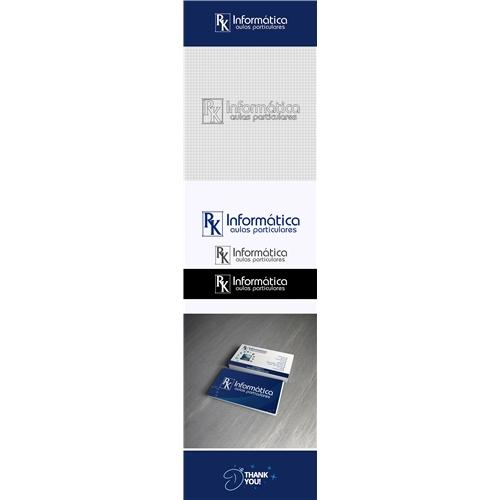 Exemplo de Logo + Cartão + Manual Básico do designer DJMingos para RK informática