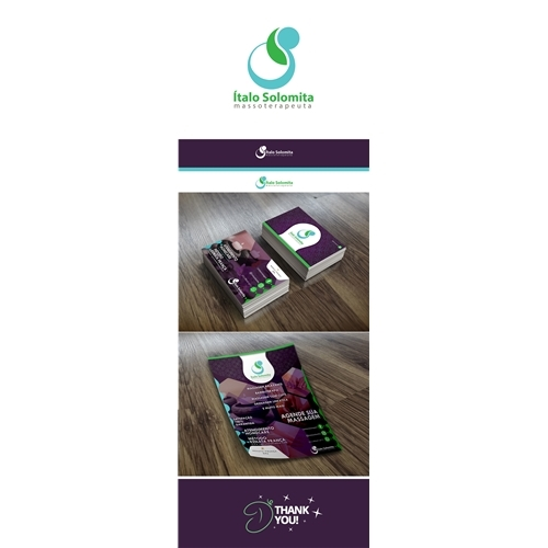 Exemplo de Logo + Papelaria + Manual Básico do designer DJMingos para Italo Solomita masoterapeuta