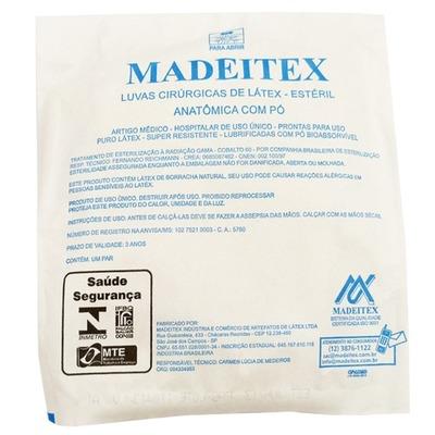 Luva cirurgica esteril latex com po Madeitex