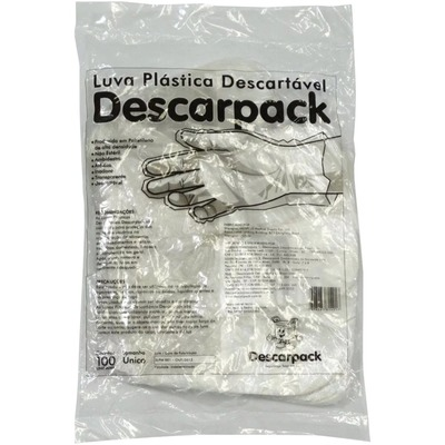 SOBRE LUVA DESCARTAVEL PLASTICA DESCARPACK