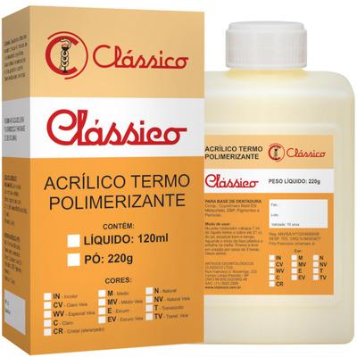 Resina acrílica termopolimerizável pó clássico