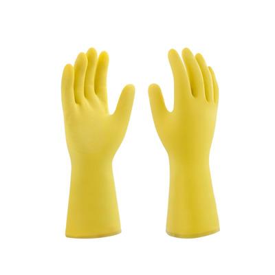 Luva de látex bompack flocada amarela