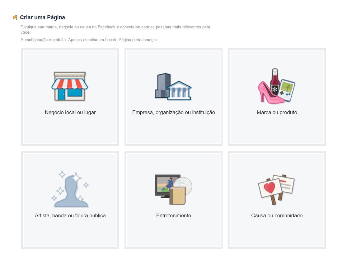 como-criar-uma-pagina-no-facebook-tipos-de-pagina