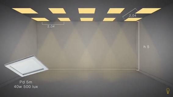 calculo-luminotecnico-pe-direito-duplo-painel-de-led-50x50cm-40w