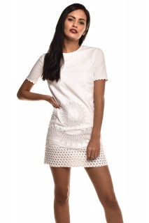 fcfadf610 Stella Mccartney. Vestido Bordado Branco