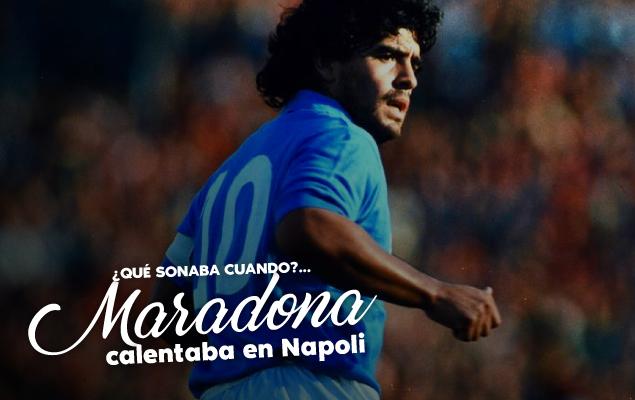 ¿Que sonaba cuando? Maradona calentaba en Nápoles thumbnail