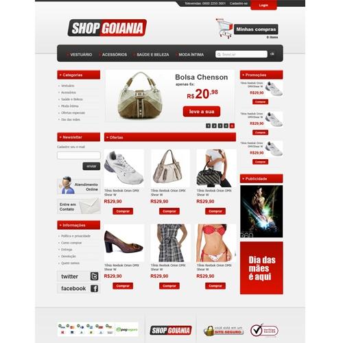 Layout e-Commerce Para loja de departamentos - shopgoiania